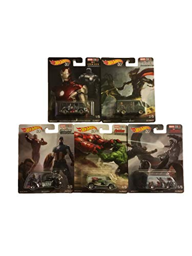 Hot Wheels Pop Culture Real Riders Marvel Studios The First 10 Years Concept Art Complete Set of 5