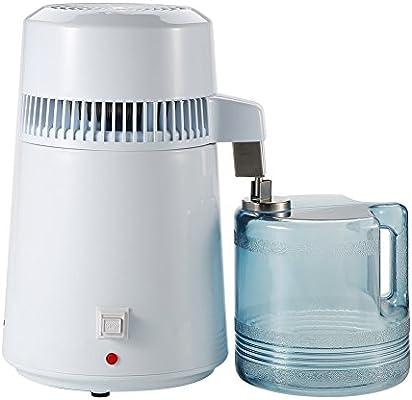 Asixx Purificador de Agua, 4L Destilación Filtro, de Acero Inoxidable, con La Función de Ajuste de Temperatura, para Purificar Agua, Agua Hidrogenada Y Vino, Etc(EU): Amazon.es: Hogar