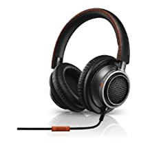 Philips Fidelio L2 Audio Headphones with Accept Incoming Call Function and Microphone for Mobile Phone Black / Orange