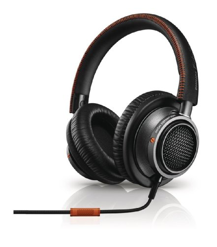 Philips Fidelio L2 Audio Headphones with Accept Incoming Call Function and Microphone for Mobile Phone Black / Orange by Philips