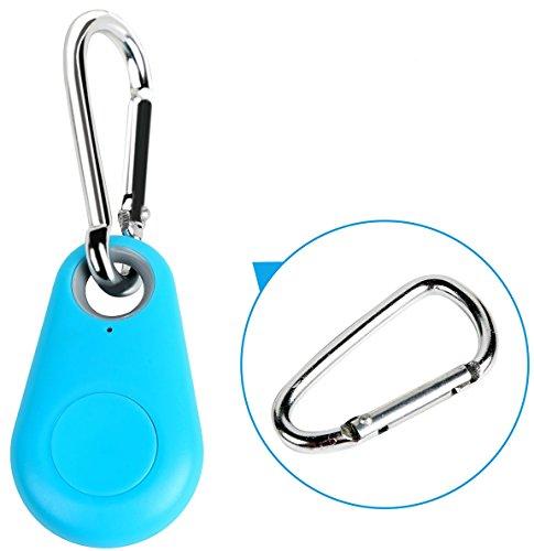 iMounTEK Mini Smart Anti-lost Alarm, Remote (GPS Tracker for Luggage, Kids, Keys, Pets, Camera Shutter, Wireless, Bluetooth, Google Play App iTracing, Eight Tracker Tags, Selfie Shutter) - Blue