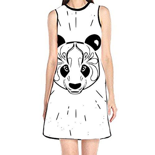 MAYS Women's Sleeveless Beach Casual Chinese Panda Dress ()