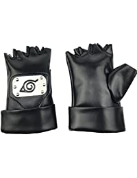 Naruto Gloves Hatake Kakashi Ninja Cosplay accessories(Size: One Size, Color Black)