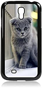 Grey Persian Cat Kitten DOUBLE LAYER PROTECTION black rubber case - for the Samsung« Galaxy S4 I9500 Case