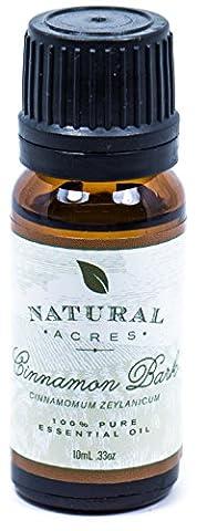 Cinnamon Bark Essential Oil - 100% Pure Therapeutic Grade Cinnamon Bark Oil by Natural Acres - 10ml - Cinnamon Scented Perfume