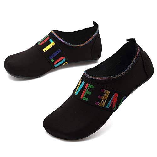 ANLUKE Water Shoes Barefoot Aqua Yoga Socks Quick-Dry Beach Swim Surf Shoes for Women Men