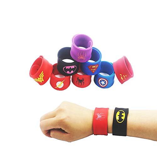 Slap Bands 36 PCS Superhero Slap Bracelets Fun Super Slap Wrist Bands