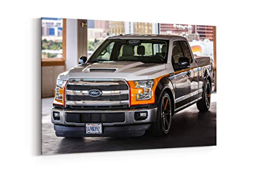 2015 Custom Shop Ford F 150 Lariat Tuning Muscle Pickup - Canvas Wall Art Gallery Wrapped 12