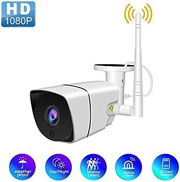 1080P al aire libre impermeable c/ámara de vigilancia HD 360 grados giratorio c/ámara de monitor remoto wifi