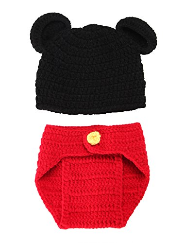 Catkit Newborn Baby Crochet Knit Costume Photo Photography Prop Outfits Mickey Mouse (Holloween Costume Photos)