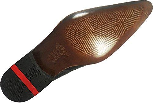 Original Chelsy - Italienischer Designer Slipper in schwarz mit weißen Streifen Business und Freizeit top modern schlicht