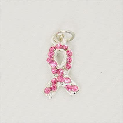 4b9b86f48 Image Unavailable. Image not available for. Color: Breast Cancer Awareness Pink  Swarovski Crystal Charm
