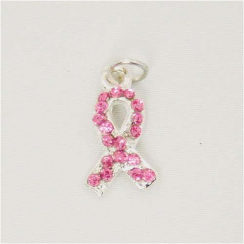Breast Cancer Awareness Pink Swarovski Crystal Charm