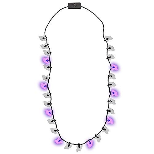 Glowmaker Light Up LED Halloween Ghost Necklace