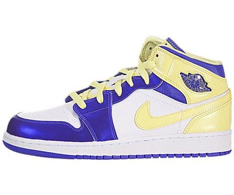 Kids Nike Jordan 1 Mid 555112 118 White Force Violet Electri