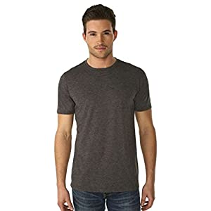 Next Level Apparel 6200 Mens Poly & Cotton Crew Tee - Charcoal44; Large