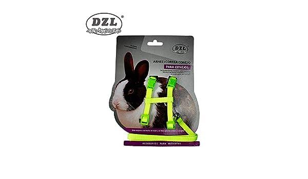 DZL® ARNÉS con Correa para Conejo 1,0-28/38CM (Verde): Amazon.es ...
