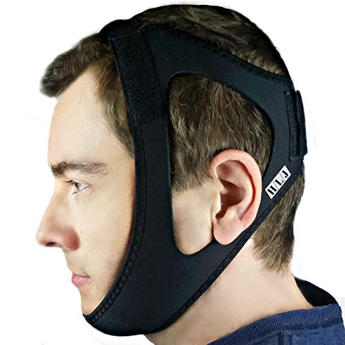 Anti Snore Chin Strap - Adjustable Anti Snoring Device for Men, Women, CPAP Users, Open Mouth Breathers. Stop Snoring Sleep Aid Solution. Consider Using w/Snore Eliminator Pro or Bruxism Mouthpiece
