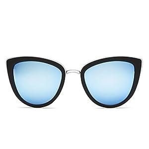 Quay Australia MY GIRL Women's Sunglasses Oversized Cat Eye Metal - Black/Blue