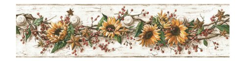 York Wallcoverings CB5516BD Sunflower Border (Vine Botanical Wallpaper)