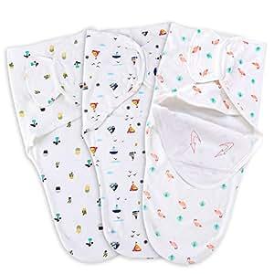 Amazon.com: Cherub - Juego de 3 mantas para bebé de 100 ...