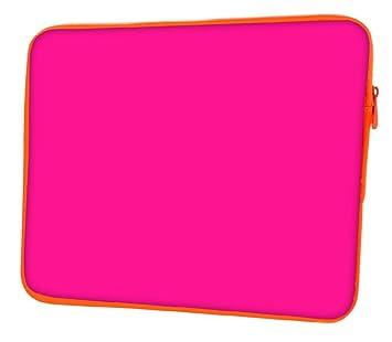 """Snoogg Plain rosa Funda 17 """"pulgadas a 17,5 pulgadas a 17,"""