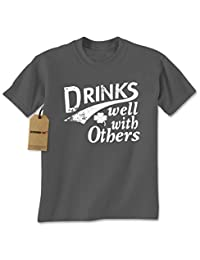Expression Tees Drinks Well With Others Mens T-shirt