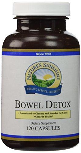 NATURE'S SUNSHINE Bowel Detox Capsules, 120 Count