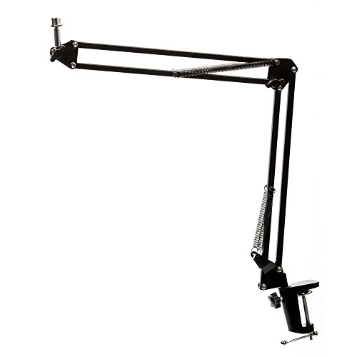 (Knox Gear Microphone Desktop Book Arm - Black)