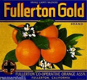 Fullerton Orange Catholic Friar Monk Orange Citrus Fruit Crate Label Art Print