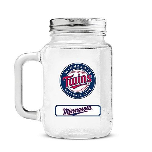 MLB Minnesota Twins 20oz Glass Mason Jar