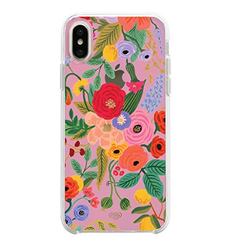 (Rifle Paper Co. Phone Case Compatible with iPhone X/XS - Clear Blush Garden Party)
