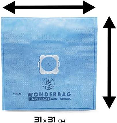 Wonder Bag WB415120 Universal Vacuum Cleaner Bag Includes 5 Bags Plus 1 Adaptor