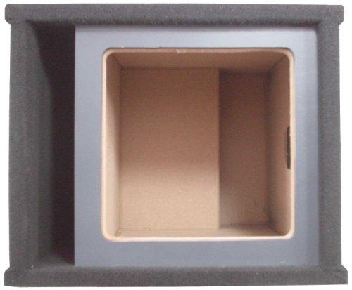 """ASC Single 12"""" Kicker Square L3 L5 L7 Subwoofer Paintable Baffle Slot Vented Port Sub Box Speaker Enclosure"""