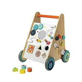 andador y carrito aprendizaje de madera