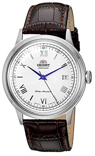 Orient Men's 2nd Gen. Bambino Ver. 2 Stainless Steel Japanese-Automatic Watch with Leather Strap, Brown, 21 (Model: FAC00009W0) (21 Leather Watch Strap)