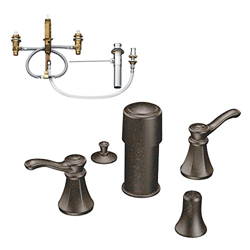 (Moen KBVE-D-T5250ORB Vestige Two-Handle Bidet Faucet, Oil Rubbed Bronze)