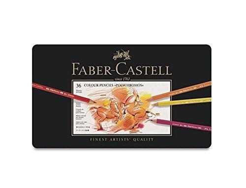 Faber Castell Polychromos Color Colour Pencils Metal Tin Set of 36