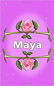 First name Maya Flower Notebook, Journal Gift Personalized ...