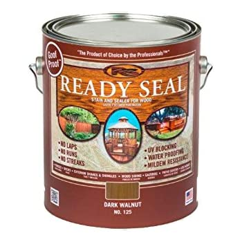 Ready Seal 125 1 Gallon Can Dark Walnut Exterior Wood Stain And Sealer Home Improvement