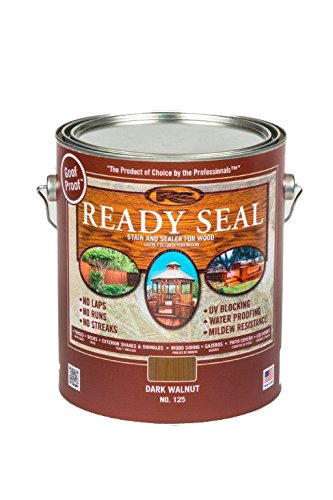 Oil Based Deck (Ready Seal 125 1-Gallon Can Dark Walnut Exterior Wood Stain and Sealer)