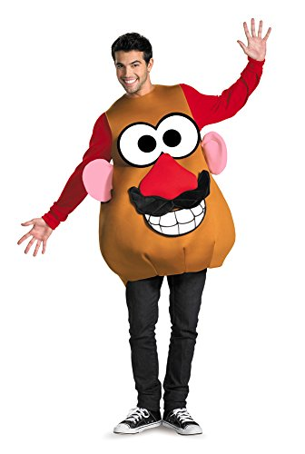[Adult-costume Mr Potato Head Deluxe Adult 42-46 Halloween Costume] (Mr Potato Head Costumes For Adults)
