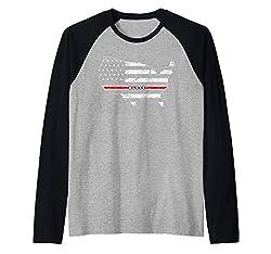 Map Usa Flag Line Nurse T Shirt Support Happy Nurse Gift Raglan Baseball Tee