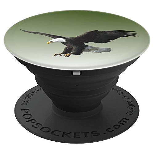 Majestic Flying American Bald Eagle Photo Portrait - PopSockets Grip and Stand for Phones and Tablets - Majestic Flight Eagle