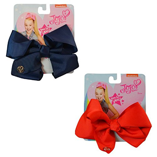 JoJo Siwa Medium Basic Bow Bundle Gift Pack (Medium, Red/Navy) by nickelodeon JoJo Siwa