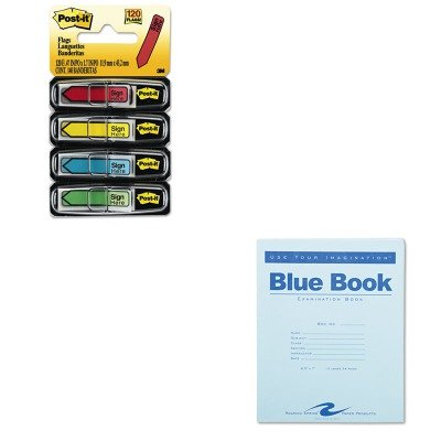 KITMMM684SHROA77513 - Value Kit - Roaring Spring Exam Blue Book (ROA77513) and Post-it Arrow Message 1/2amp;quot; Flags (MMM684SH) by Roaring Spring