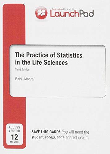 LaunchPad for Moore's The Practice of Statistics in the Life Sciences (Twelve Month Access)