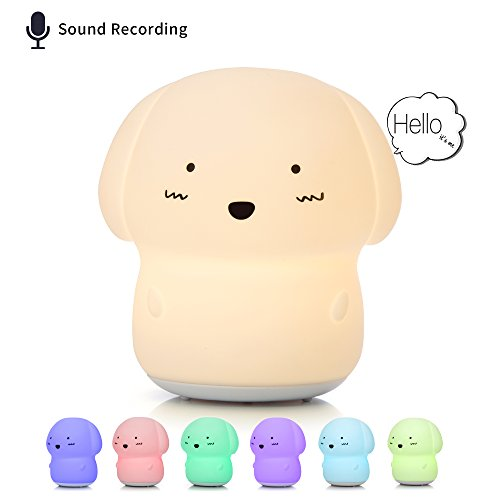 [NEW] Night Light for Children, Voice Recorder Lamp, Cute Baby Toys, Puppy Dog Toys for Girls/Boys/Toddler, Nursery Bedroom Decor, Gift Ideas for 3 to 12 Year Old Girl. by GoLine