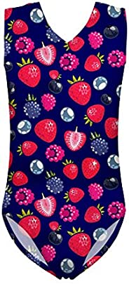 Showudesigns One Piece Swimsuits Girls Swimwear Bathing Suit Kids Training Leotards Gymnastics for 5-14 Years