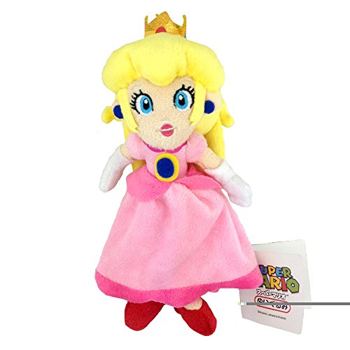 Super Mario Bros Princess Peach Plush Toy Princess Toadstool Soft Stuffed Animal Pink -